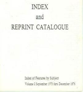 Byte Magazine Index and Reprint Catalogue