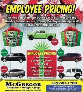 Employee Pricing on all New 2017's In Stock
