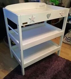 east coast white wooden baby changing table solid table , plus lots of baby items