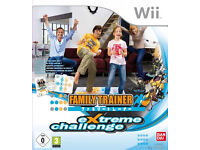 Nintendo wii family trainer challange extreme mat with game boxed (used & like new condition)