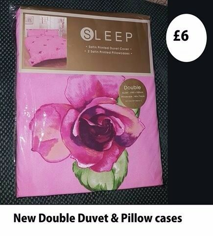 double duvet and pillow cases new in packet