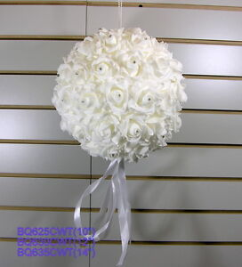 """Foam flower ball with crystals(10"""", 12"""", or 14"""")"""