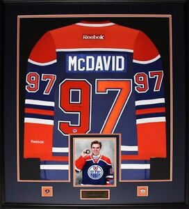 Connor Mcdavid framed signed jersey with ajsportsworld COA