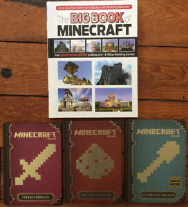 Collection of MINECRAFT BOOKS 4 for $20 - like new