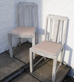 Pair of very solid wooden chairs