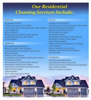 Residential Cleaners/ Flat rate fee