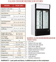 New Double Glass Door Refrigerator