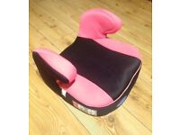 Car booster seat for child, padded