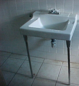 Antique-Vintage-Wall-Hung-Porcelain-China-1960s-Bathroom-Sink-dated ...