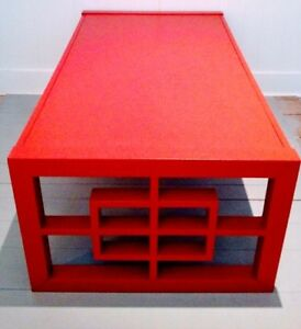TORCH RED Coffee Table LARGE Antique Vintage FREE DELIVERY