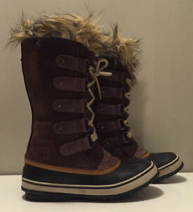 New Sorel Joan Of Arctic Snow Waterproof Brown Winter Boots 6