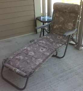 Outdoor Lounge Chair (fabric & metal) price reduced