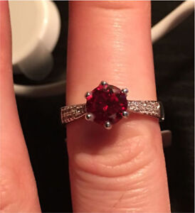 Charmed Aroma Ruby Ring Size 7-8 - Valued at $30
