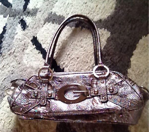 Metallic Guess purse