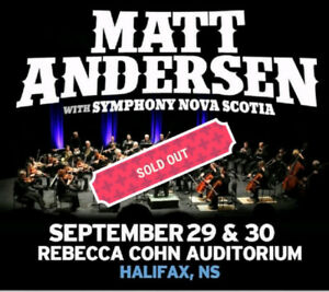 2 x Matt Andersen Sat Sept 30th