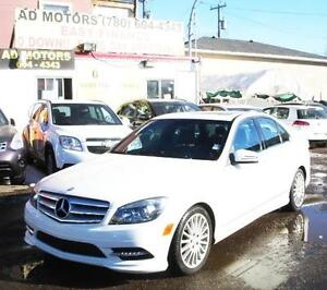 2011 MERCEDES BENZ C250 AWD LEATHER SROOF LUXURY 100% FINANCING