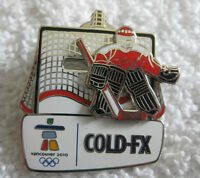 2010 Olympic Vancouver Official Cold FX Sliding Goalie Pins
