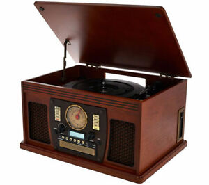 Nostalgic 6-In-1 Wooden Turntable