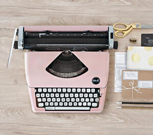 Brand new pink typewriter for sale!