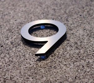 Large Modern Metal House Numbers from House Number King Regina Regina Area image 6