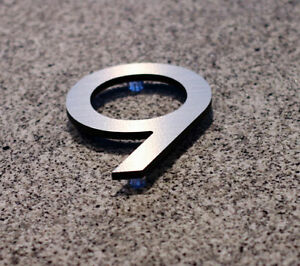 Large Modern Metal House Numbers from House Number King London Ontario image 5