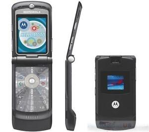 New Motorola V3G Razr Razor AT&T Unlocked GSM MP3 Camera Bluetooth Phone Black