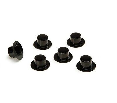 Mini Plastic Top Hats (10 Mini Plastic Black Top Hats Snowman or Wedding Shower Party Favor 19x11mm )