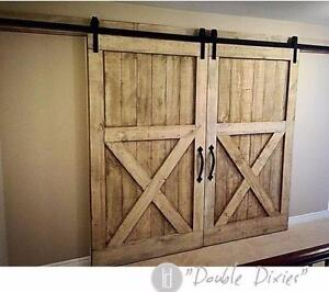 Barn doors, barn door hardware, loft doors