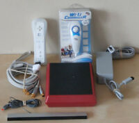 Nintendo Wii Mini Console (Red) and Accessories Lot