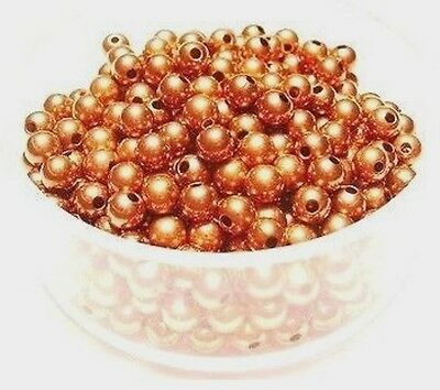 Copper Beads/ 3mm / Pkg. of 100 / Genuine Copper Round Smooth Seamed Beads