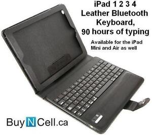 iPAD BLUETOOTH LEATHER KEYBOARD - TURNS YOUR iPAD TO MAC