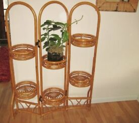20th Century Vintage Folding Bamboo Plant Screen.