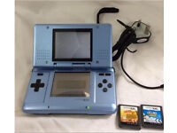 Nintendo ds original with charger and games