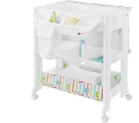 Unisex baby bath and changing set