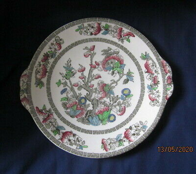JOHNSON BROTHERS INDIAN TREE HANDLED CAKE OR BREAD AND BUTTER PLATE