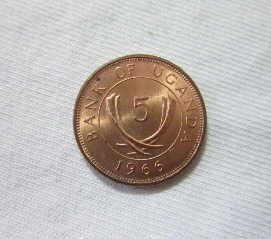 UGANDA. 5 CENTS, 1966.