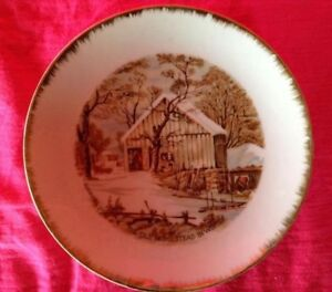 """VINTAGE. UNE ASSIETTE DÉCO """"THE OLD MOMESTEAD IN WINTER"""" Gatineau Ottawa / Gatineau Area image 3"""