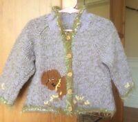 3 pièces,cardigan avec béret et gilet tricoté à la main,neufs