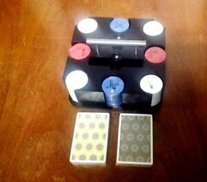 Umbra Poker Set/ chips and 2 decks card/ Perfect gift