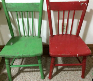 ANTIQUE CHILDREN'S CHAIRS 2 for $50
