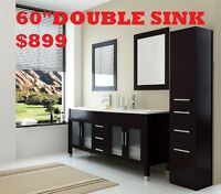 "Bathroom Vanities Wholesales Prices 60""DOUBLE SINKS VANITY $799"