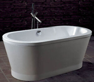 bain autoportant baignoire oval freestanding bath round