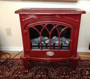 Vermilion Electric Cranberry Color Stove Heater 2 Settings