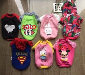 BRAND NEW - Dog/Puppy Sweaters and Hoodies