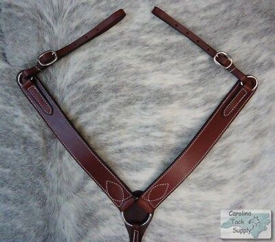 BURGUNDY Western Leather Breast Collar Made In USA!! NEW HORSE TACK!!5