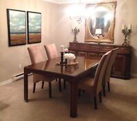 DREXAL HERITAGE DINNING TABLE WITH MATCHING SIDEBOARD/BUFFET