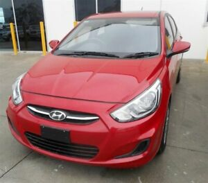 2016 Hyundai Accent RB4 MY17 Active Red 6 Speed CVT Auto Sequential Sedan Singleton Heights Singleton Area Preview