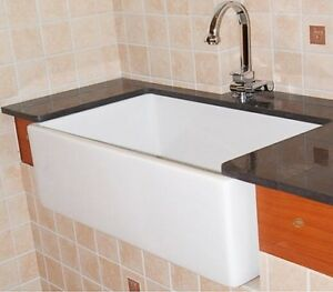 30 inches fire clay white apron sink delivered to your place