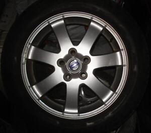 """OEM Volvo C30/more 16"""" alloy wheels (x4) & Michelin MXV4 tire(3)"""