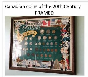 Framed Canadian Coins of the 20th Century